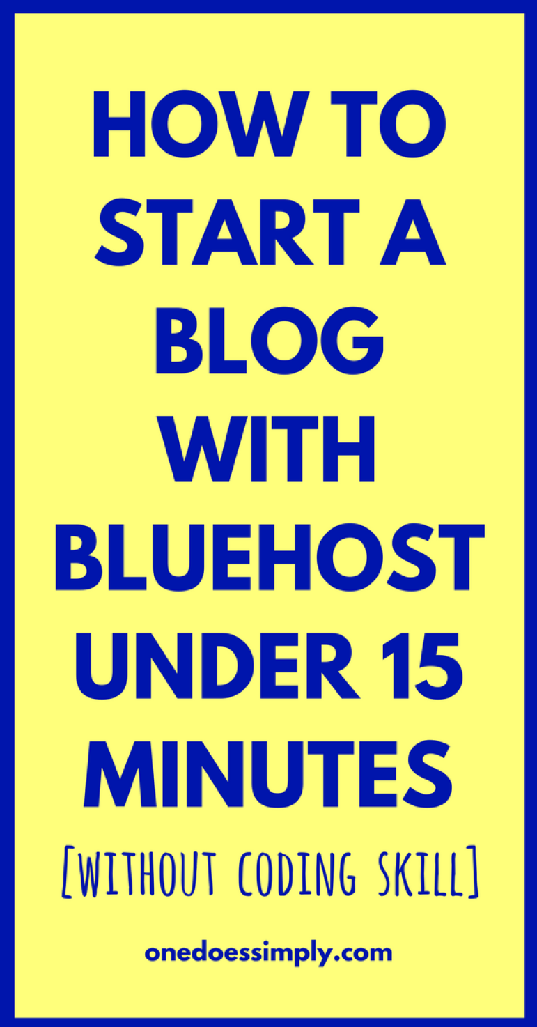 How to Set Up A New Blog Quickly with Bluehost | Blogging and Tutorials