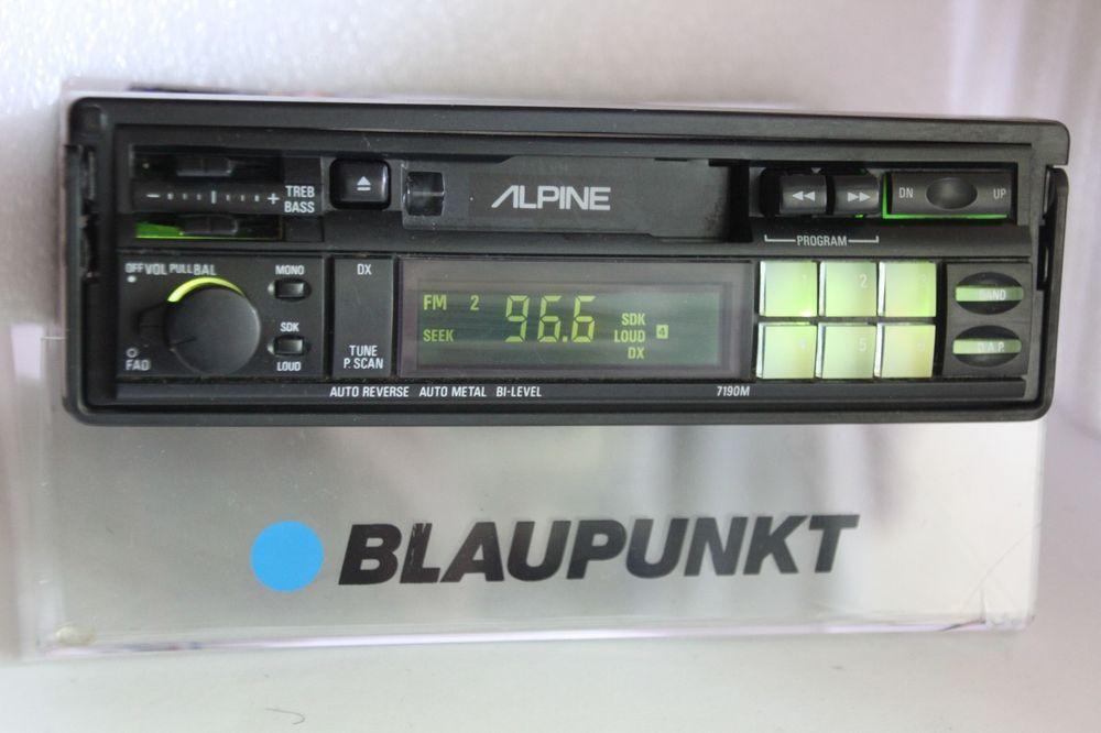 Alpine 7190m Retro Old School Am Fm Cassette Tape Pullout Type Car