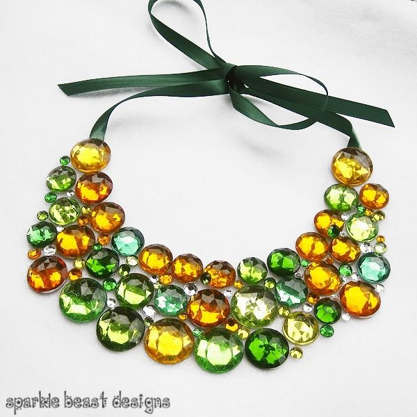 Green and gold rhinestones.. game day?