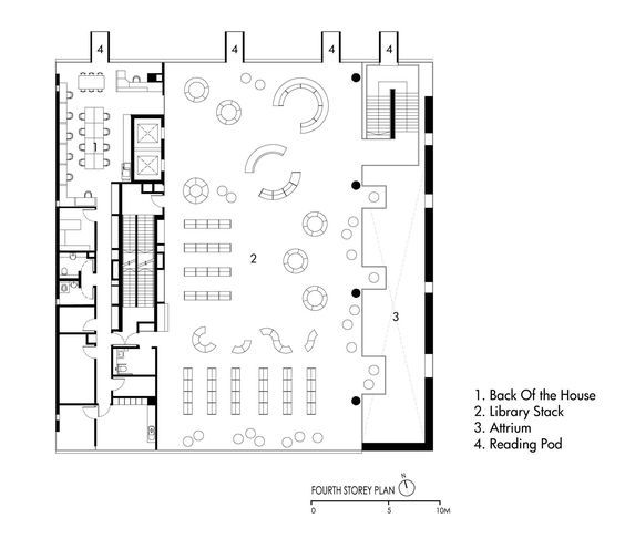 Gallery Of Bishan Public Library Look Architects 16 Library Floor Plan Library Architecture Library Plan