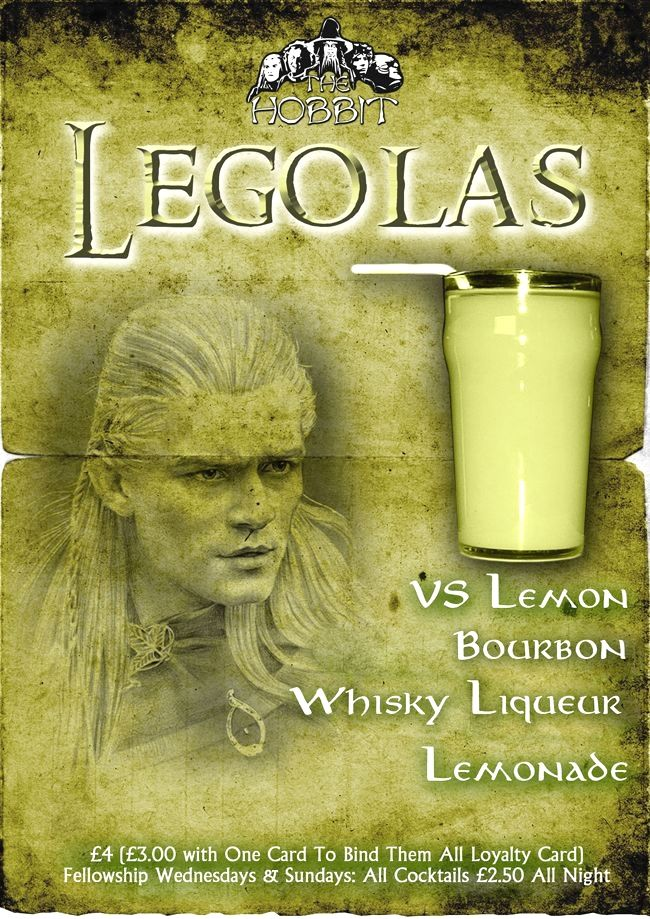 Legolas Cocktail | Mixed drinks alcohol, Themed drinks ...