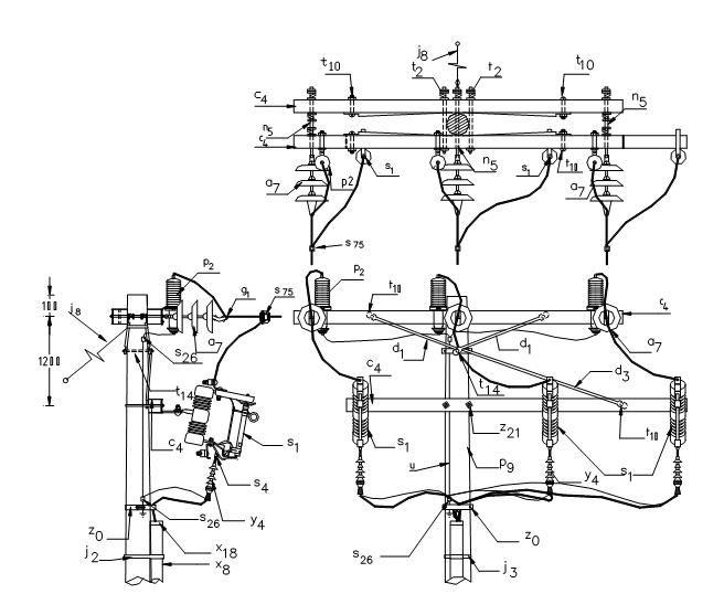 pin de electricidad industrial en electric transformator    transformador electrico