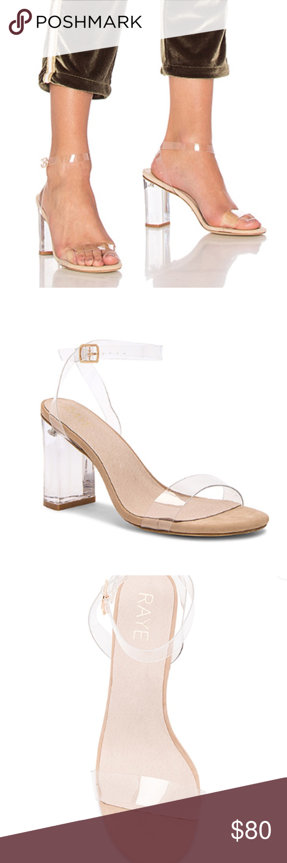 854c64224c7 Raye X Revolve Alta Lucite Heel in Clear Heels 10 Raye X Revolve Women s Alta  Lucite Heel in Clear Size 10 Nude Clear Open Toe Hardly shows any signs of  ...