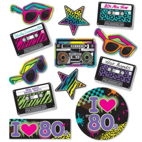 80s Theme Party Decorations & Supplies - Eighties Era