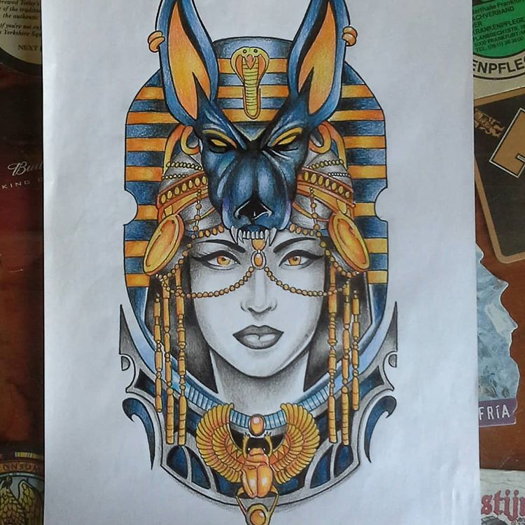 Jim Perez En Instagram Cleopatra Anubis Egyptian Tattoo Design Cleopatra Egypt Anubis Anubistattoo Egypt Tattoo Egypt Tattoo Design Egyptian Tattoo