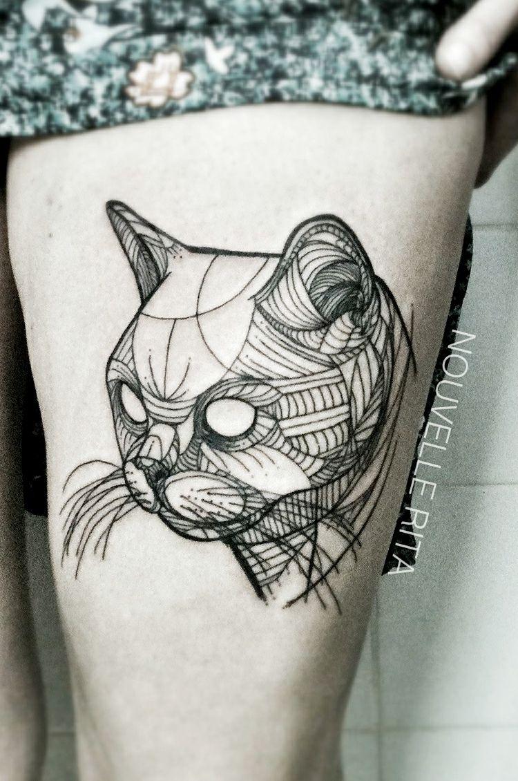 Minimalistische Geometrische Tier Tattoos Von Nouvelle Rita
