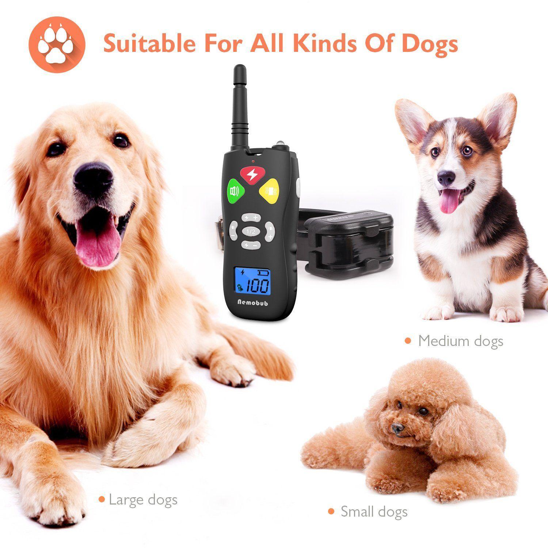 Nemobub Dog Shock Collar 1000ft Remote Training And 100 Waterproof