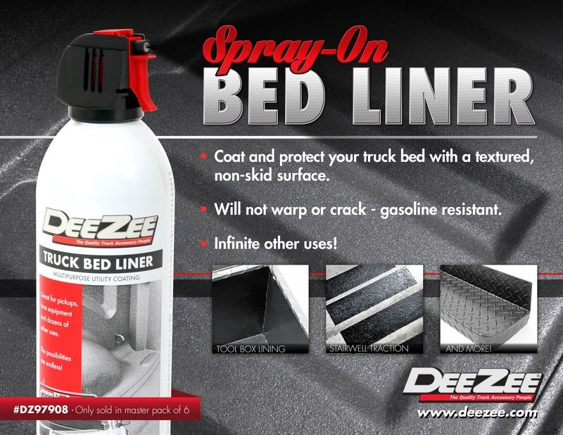 spray in bed liner NEW PRODUCT DEEZEE SPRAYON BED