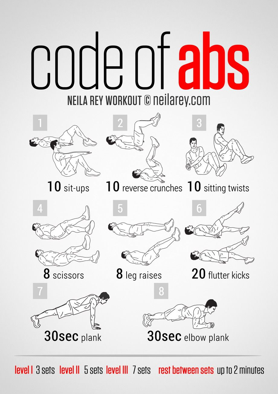 Workout Plan For Men At Home Code Of Abs Courtesy Of Neilarey  Exercise Roulette