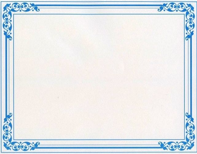 image about Printable Certificate Paper referred to as Blue Floral Certificates - 25 Rely [Geo48610] : Designer