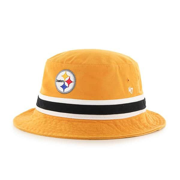 Pittsburgh Steelers 47 Brand Striped Gold Bucket Hat  79326414c
