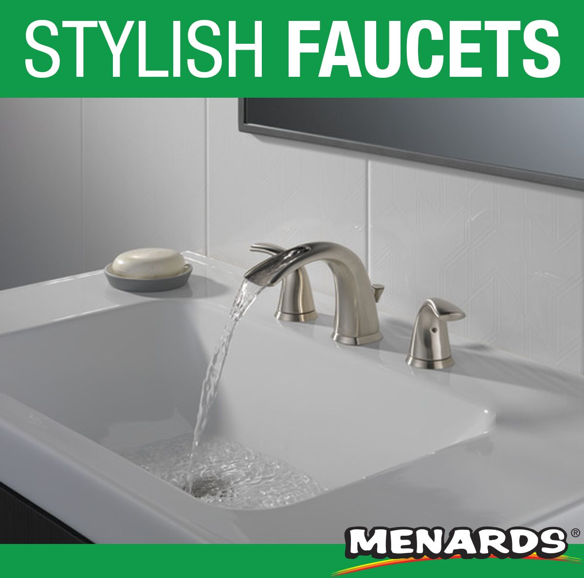 Delta Nyla Open Channel Spout Creates A Harmonious Waterfall Ambiance Transform Ordinary Spaces With This Beautiful P Kitchen Faucet Faucet Kitchen And Bath [ 1189 x 1200 Pixel ]