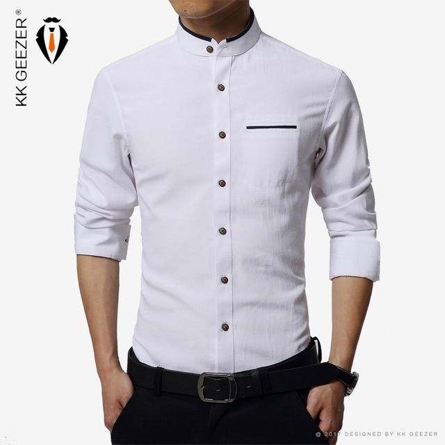 7946faef High quality Mens Dress Shirt Long Sleeve Cotton Male Business banquets Brand  Fashion Formal Shirts Slim men casual soft shirts