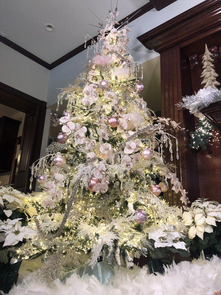 Set Of 12 Sparkling Cedar Branch Picks Lisa Robertson Pre Lit Christmas Tree Lisa Robertson Gold Christmas Tree