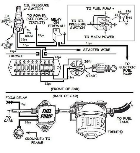 Wiring An Electric Fuel Pump Diagram Electricity Automotive Mechanic Car Mechanic