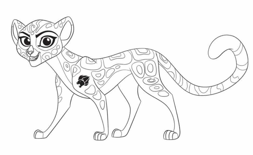 Planse De Colorat Cu Garda Felină Personaje Din Lion Guard Art