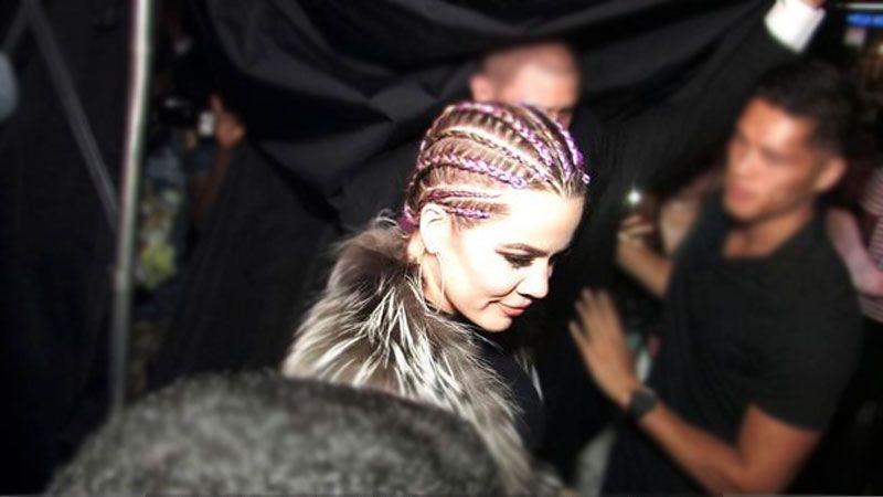 Dailytimes | Khloe Kardashian Shows Off Cool New Purple Cornrows