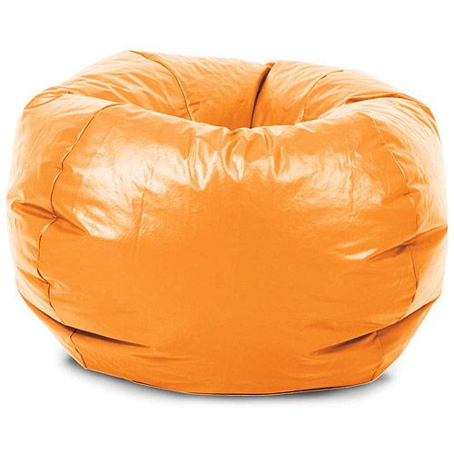 Stupendous Classic Vinyl Bean Bag Chair Competitive Orange Bean Bag Gmtry Best Dining Table And Chair Ideas Images Gmtryco