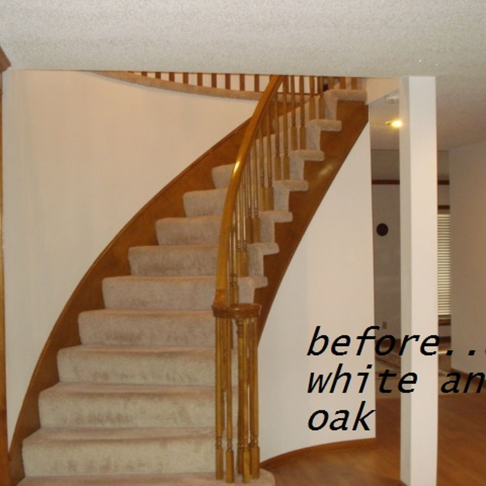 DIY Updating 80's Oak Stairwell