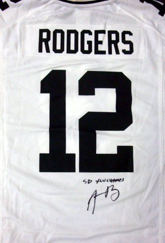 Aaron Rodgers Autographed White GB Packers Nike Jersey SB XLV Champs  PSA DNA .  489.00 400e5c103