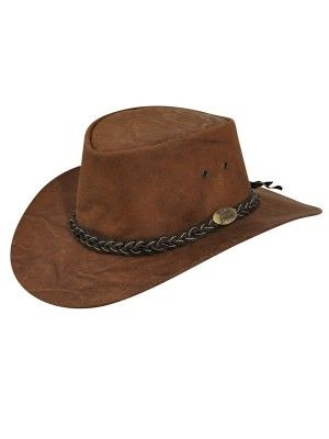 b41965ed10dfd Jacaru Kangaroo - Leather Australian Hat (CLOSEOUT)