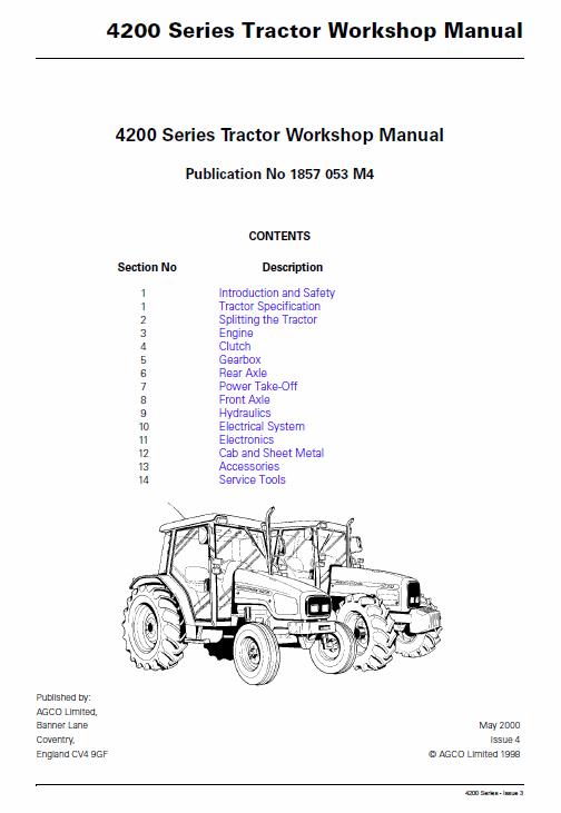 Massey Ferguson 4255 4260 4270 Tractor Service Manual Massey Ferguson Tractors Manual