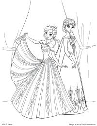 Elsa and Anna Coloring Page   Kids Printables   Pinterest   Elsa ...