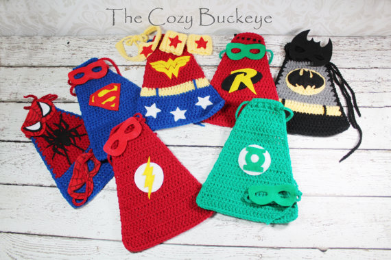 Instant Download Crochet Pattern - Green Lantern Cape and Felt Mask Set -  Newborn Prop - Superhero C 37f3ebb1bb90