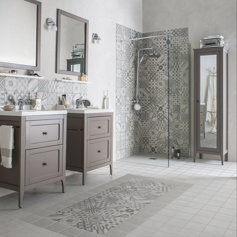 carrelage mur gris d cor elliot x cm 29 95. Black Bedroom Furniture Sets. Home Design Ideas