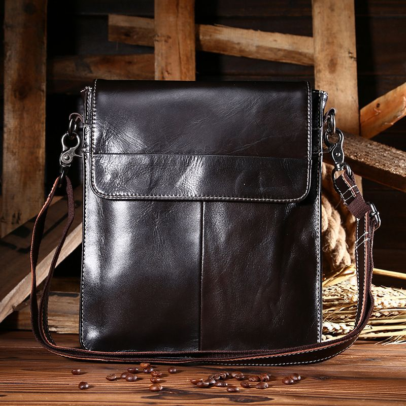 New Luxury Brand Design Men Vintage Messenger Bag 100% Genuine Cow Leather  Male Business Shoulder Cross Body Bags Smooth Packs-in Crossbody Bags from  ... c2f0bdd73a