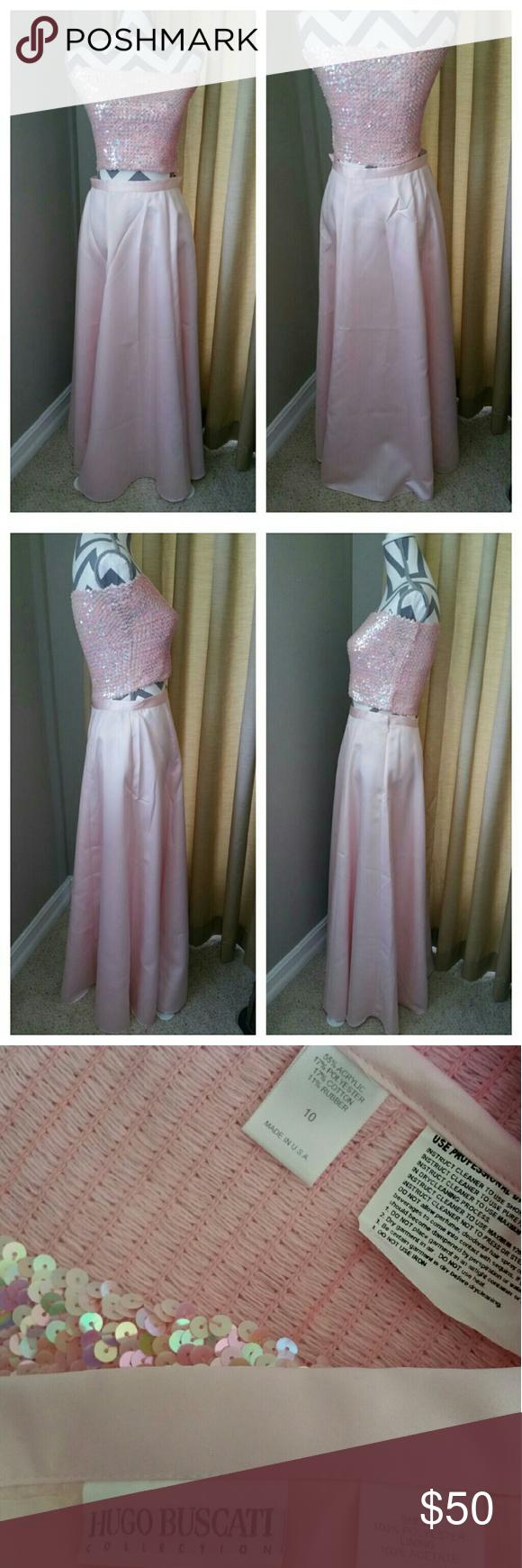 Hugo buscati pretty in pink piece prom dress my posh picks