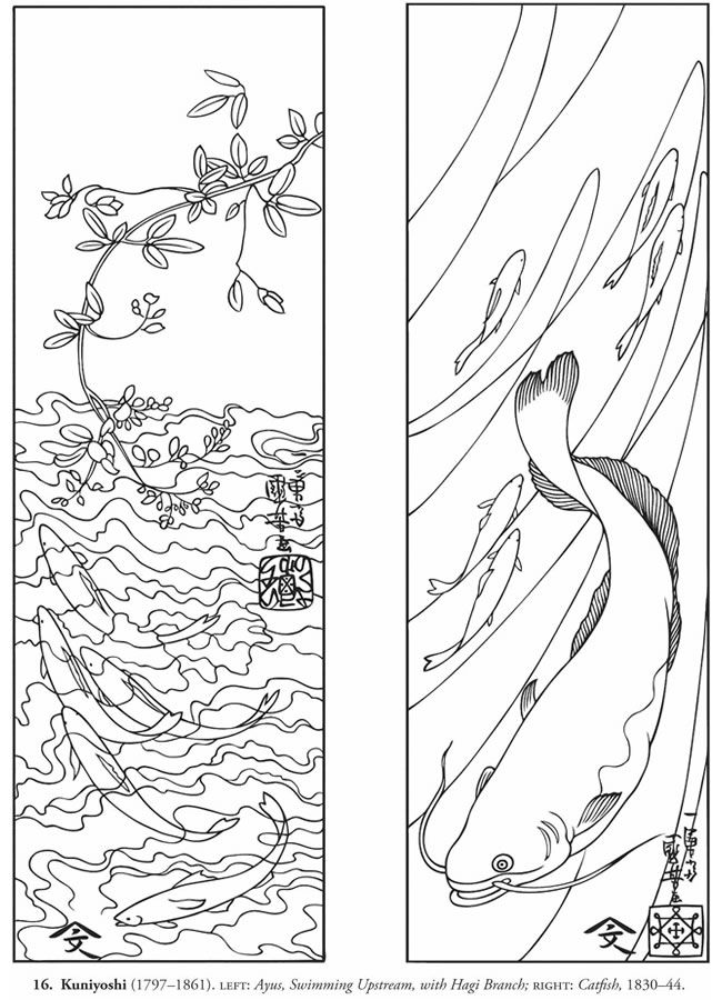 Welcome To Dover Publications Color Your Own Japanese Woodblock Prints