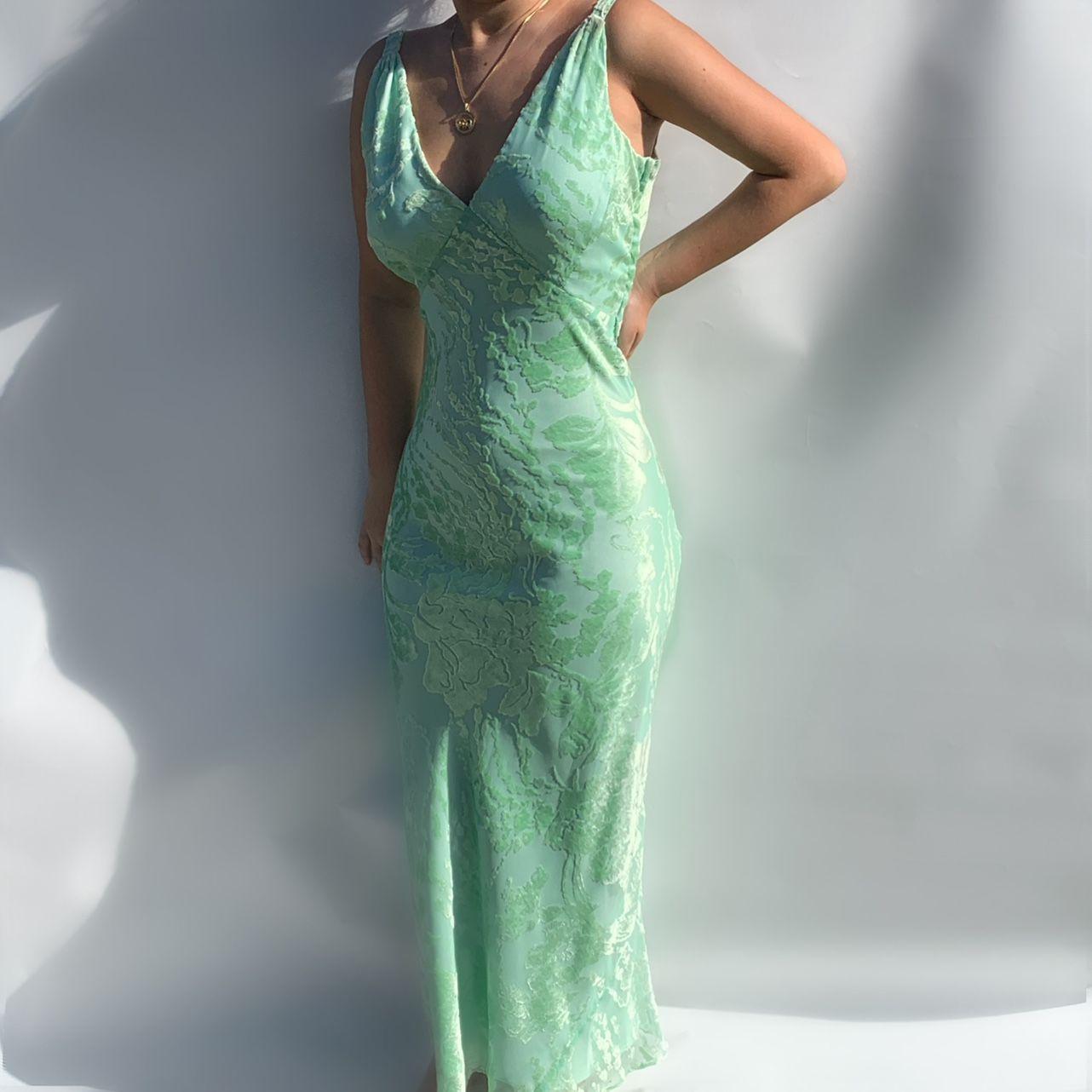 Iridescent Shimmering Light Pink Dress Still Depop Green Formal Dresses 90s Prom Dresses Formal Dresses [ 1282 x 1282 Pixel ]
