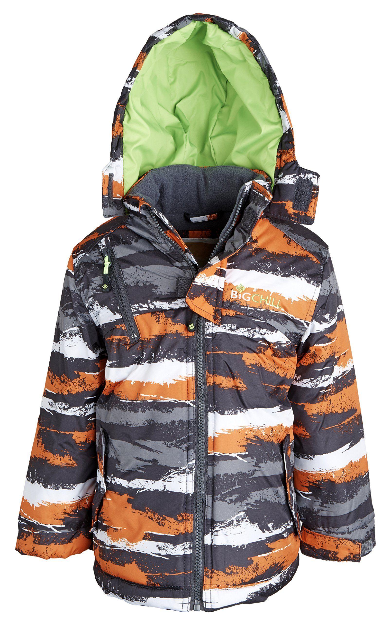 Big Chill Little Boys Insulated Down Alternative Fleece Lined Puffer Camo Jacket Charcoal 4 Camo Design Camo Jacket Long Winter Jacket Girls Winter Coats [ 2560 x 1603 Pixel ]