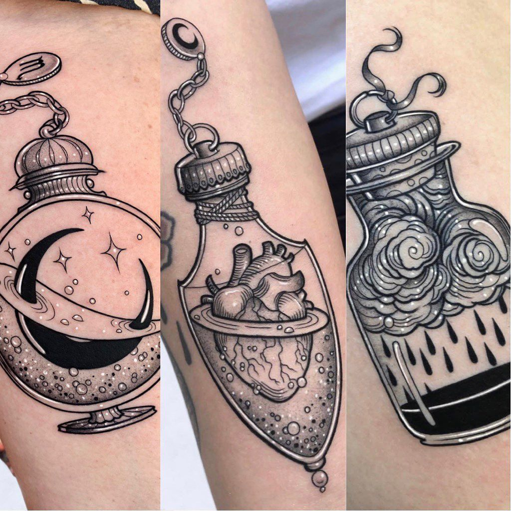 Sara Rosa Sur Instagram P O T I O N S Ired Inspire De Lozzybone Tatouage Manchette Tatouage Tatouage D Inspiration