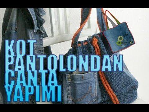c6bcf4ce04289 KOT PANTOLONDAN ÇANTA VE TELEFON KILIFI YAPIMI - DIY - YouTube ...