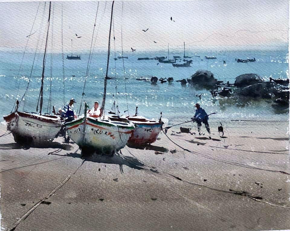 Image Paysage Aquarelle De Guillaume Serge Du Tableau Joseph