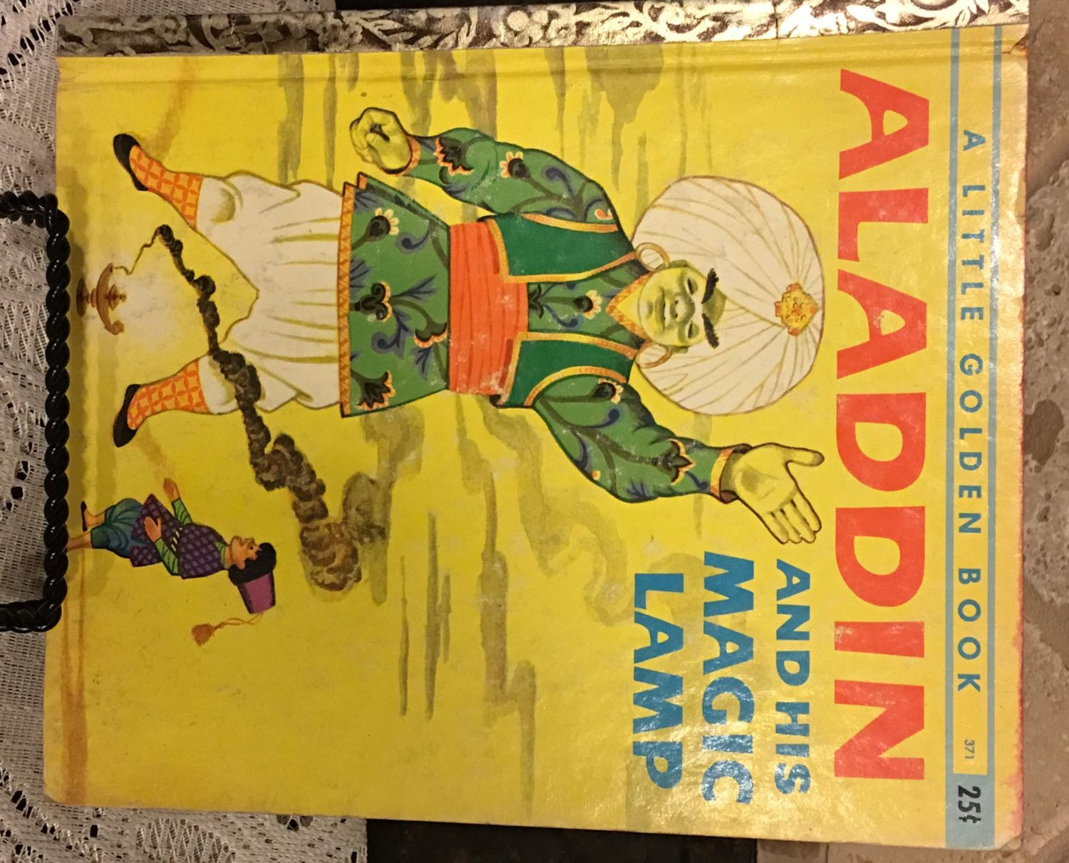 Vintage Little Golden Book Aladdin And His Magic Lamp 1st A Ed