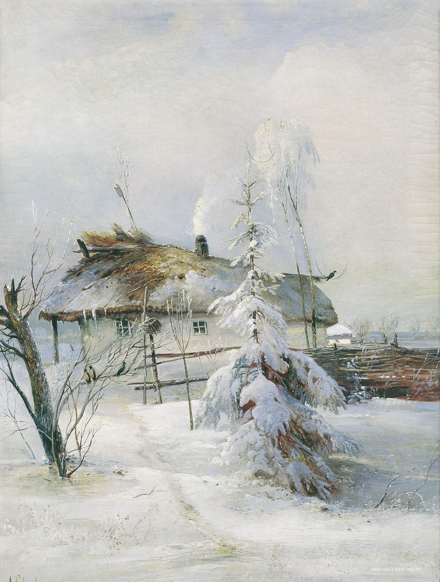 Winter, 1873 Alexei Kondratyevich Savrasov (May 24, 1830 – Oct 8, 1897) was a Russian landscape painter and creator of the lyrical landscape style