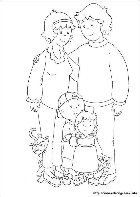Caillou coloring picture | Handmade - coloring | Coloring pages ...
