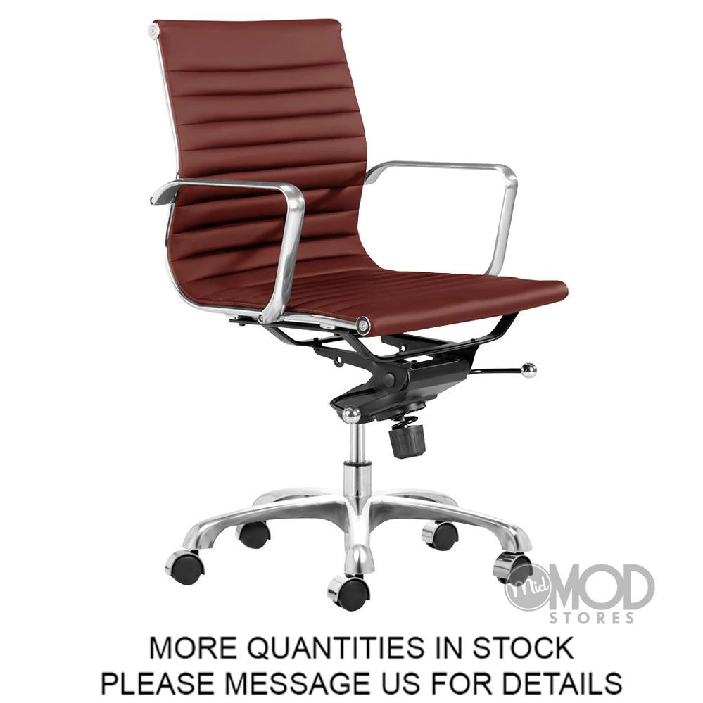 Details About AG Executive Management Lider Chair Low Back Ribbed Modern Grou
