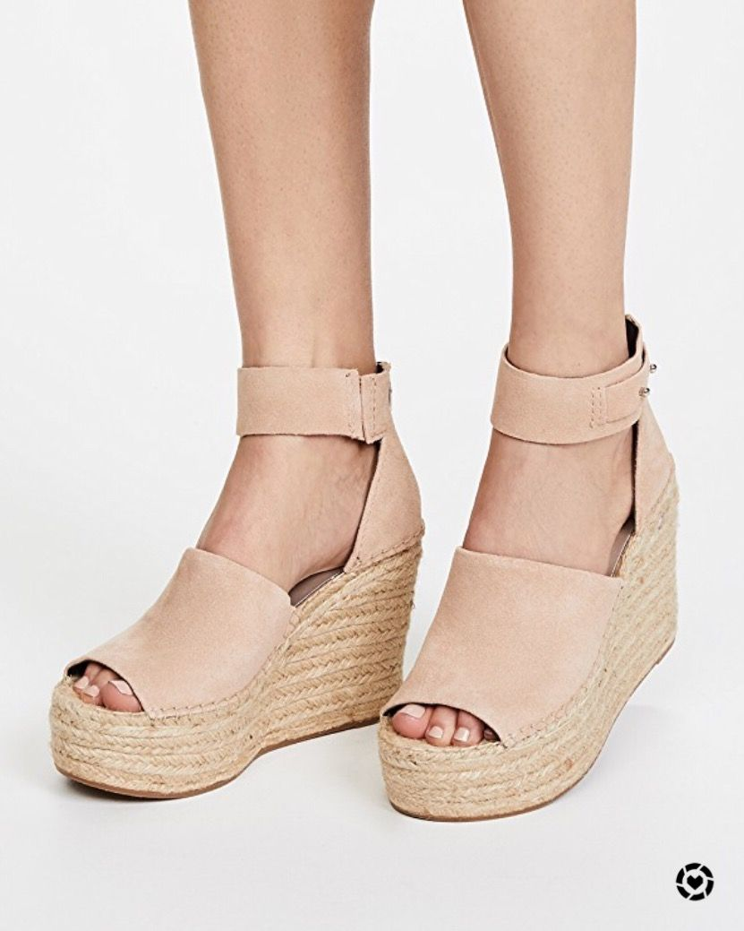 3cc0e8c93ee Nothing better than a nude blush wedge sandal for summer to elongate your  legs and accentuate