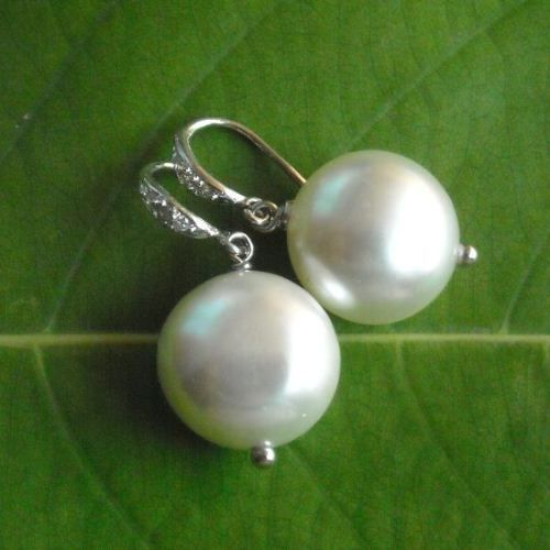 Pearl pendant and earrings set - Single pearl pendant necklace jewelry $70.00