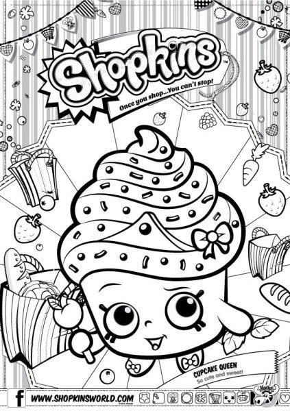 Shopkins Coloring Pages Season 1 Cupcake Queen Shopkins colouring pages Shopkin coloring