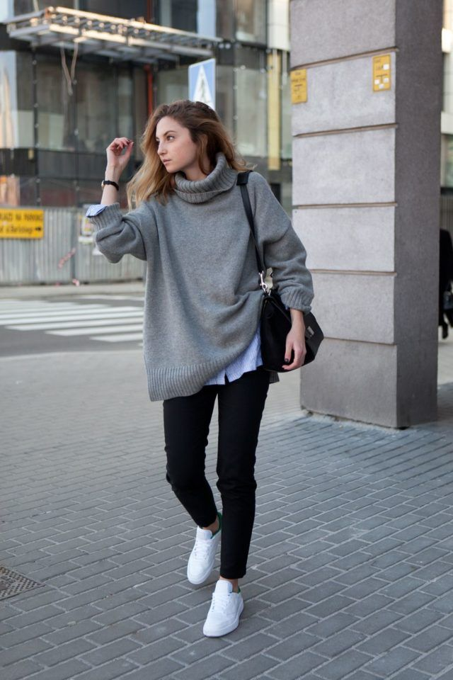 fashion-muggin-fall-weekend-outfit-oversized-sweater-turtleneck ...