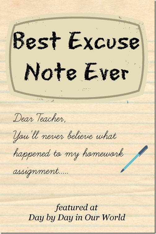 How to write a school note