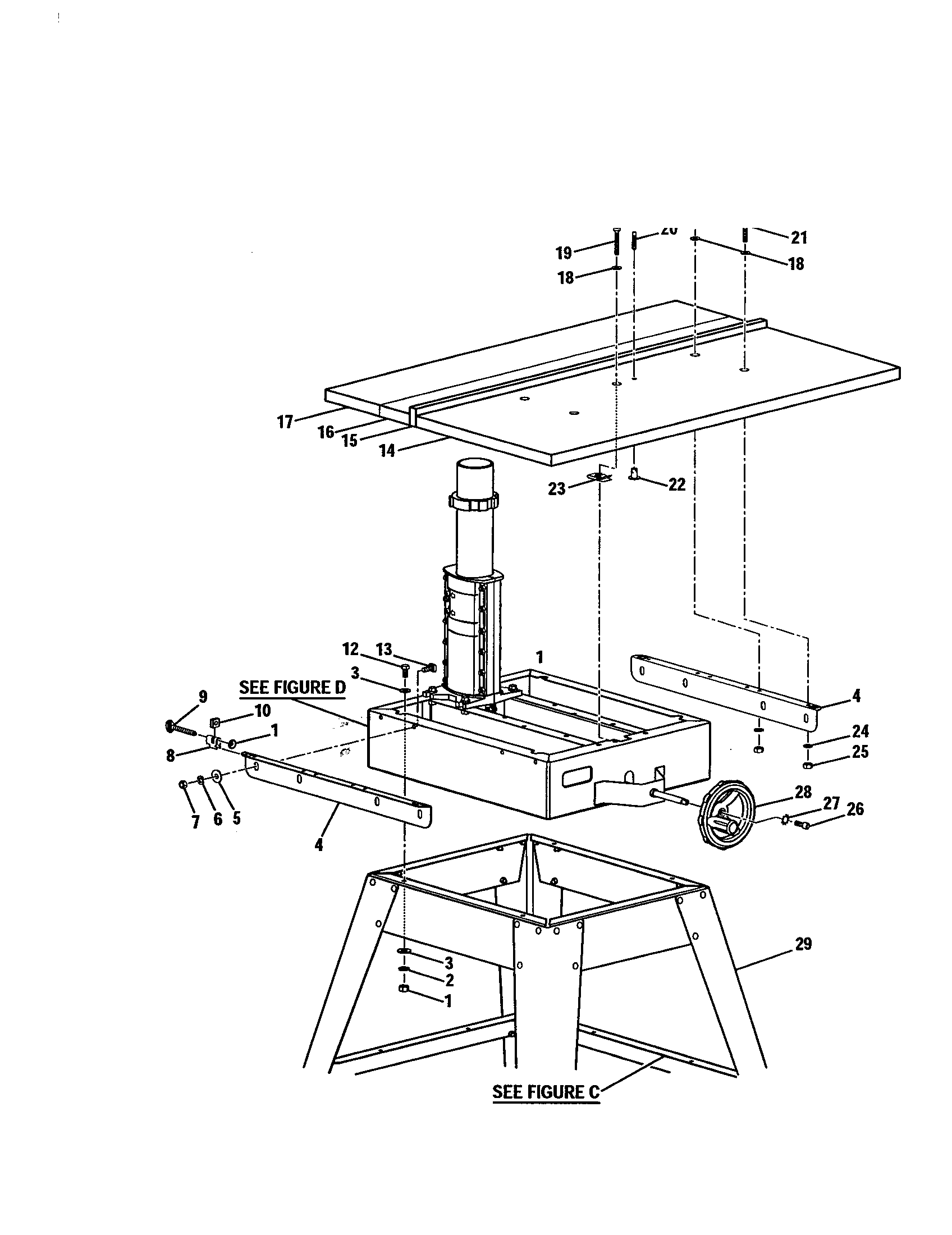 hight resolution of sear site information on radial arm saw