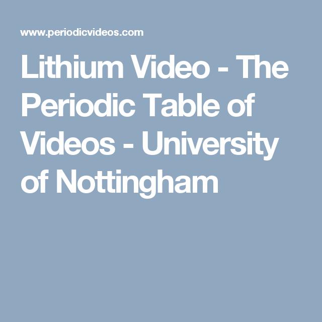 Lithium video the periodic table of videos university of sodium video the periodic table of videos university of nottingham urtaz Images