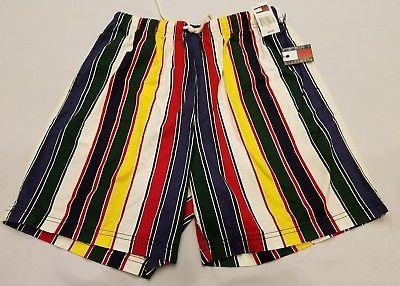 26f8ace037 New Old Stock Tommy Hilfiger XL boys vintage surf wear swim shorts striped  90s