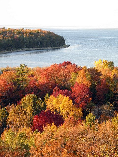 Fall Colors Same Week Last Year Door County Wisconsin Autumn Scenery Scenic